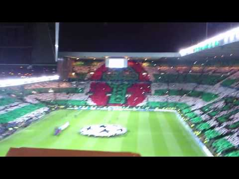 Celtic v Barcelona (2-1) (07/11/12) Pre Match Champions League Anthem And Display