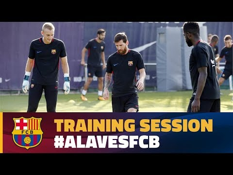 FC Barcelona training session: Second session with Alavés in mind
