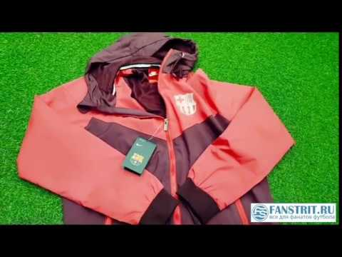 Обзор на ветровку FC BARCELONA 1819 third Windrunner jacket