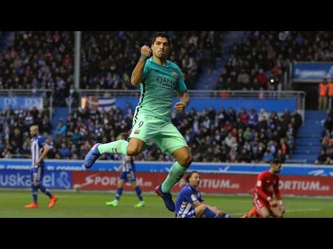 Luis Suarez Second Goal ~ Alaves vs Barcelona 0-6 Liga Santander