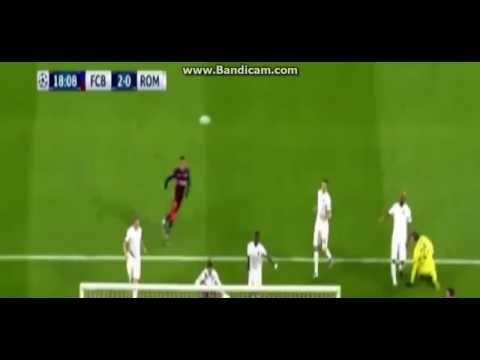 Barcelona vs AS Roma 6-1   All Goals First Half Messi, Suarez Goals   Champions League