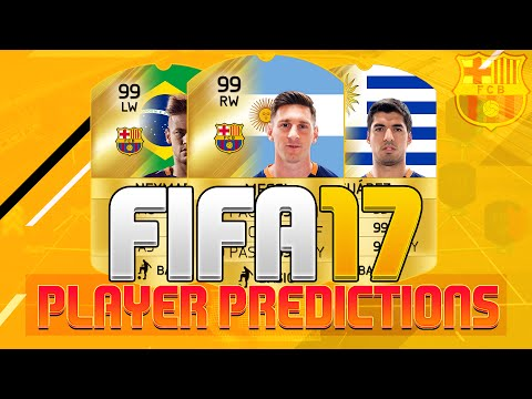 FIFA 17 FC Barcelona Player Ratings Predictions!! Ft. Messi, Suarez & Neymar!