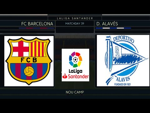 Barcelona vs Alaves 2019/20 | Week 18 | La Liga Santander | Full Match & Gameplay