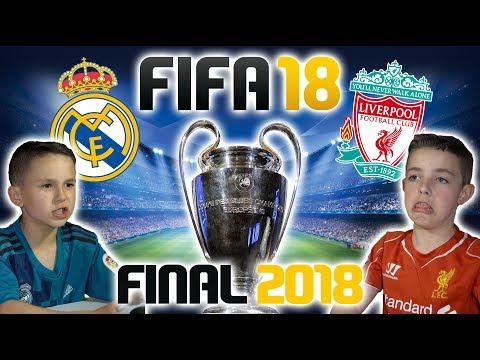 CHAMPIONS LEAGUE FINAL 2018   REAL MADRID VS LIVERPOOL   FIFA 18 SCORE PREDICTOR!