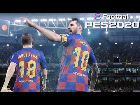 eFootball PES 2020 FC Barcelona vs Manchester United – PS4 Pro 4K Gameplay