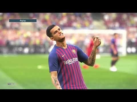 [4K HDR] PES 2019 DEMO FC Barcelona vs Liverpool PS4 Pro