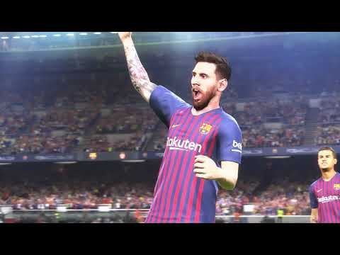 [4K HDR] PES 2019 DEMO FC Barcelona vs Monaco PS4 Pro