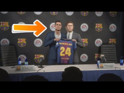 CAN FC BARCELONA SIGN CRISTIANO RONALDO IN FIFA 18 CAREER MODE?