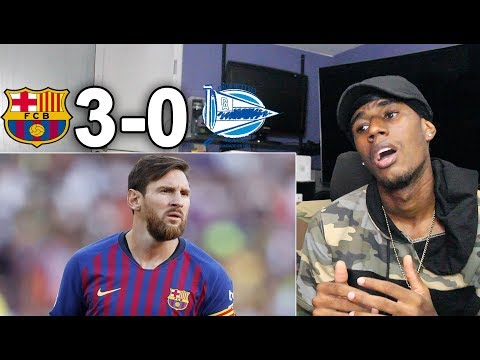 LIONEL MESSI OUT SMARTS OPPONENTS! Barcelona vs Alaves 3-0 – All Goals & Highlights REACTION