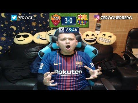 REACCIÓN DE UN HINCHA AS ROMA VS FC BARCELONA 3-0 | ELIMINACIÓN HISTÓRICA