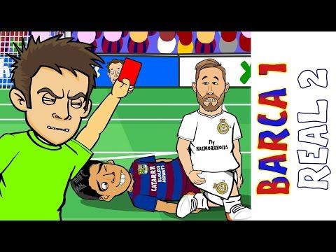 Barcelona vs Real Madrid 1-2 : El Clasico 2016 (Ronaldo goal Sergio Ramos red card Goals Highlights)