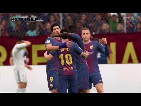 FIFA 18 (PS4 Gameplay) El Clasico FC Barcelona VS Real Madrid 7-0 TOTAL DOMINATION TIKI-TAKA!!!