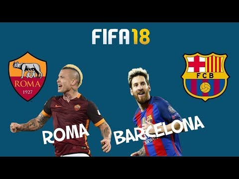 FIFA 18 Match day Preview 10 April 2018 Roma vs. Barcelona  – Full Gameplay