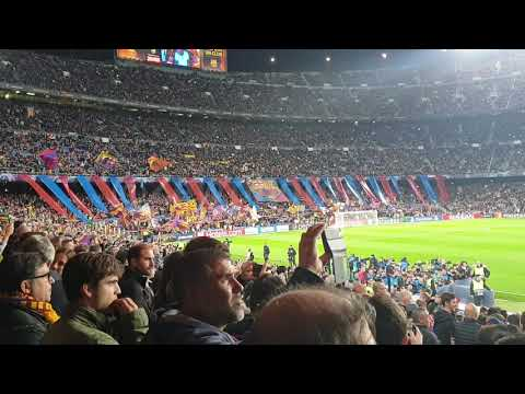 FC Barcelona Anthem against Dortmund 27/11/2019