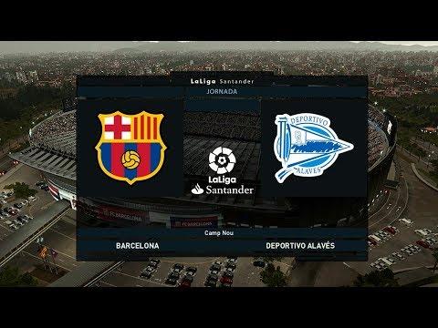 BARCELONA VS ALAVES LA LIGA MATCHDAY 18 PES 2019 GAMEPLAY