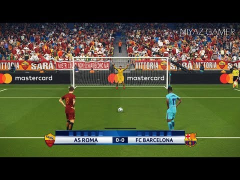 AS ROMA vs FC BARCELONA   UEFA Champions League – UCL   Penalty Shootout   PES 2018 Gameplay PC