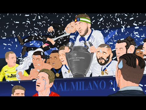Parodia animada del Real Madrid 1-1 Atlético de la Final de Champions 2016