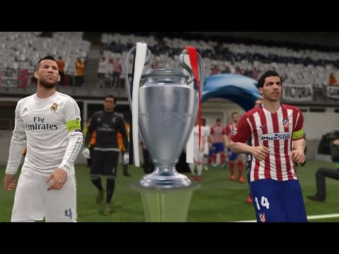 PES 2016 UEFA Champions League Final (Atletico Madrid vs Real Madrid Gameplay)