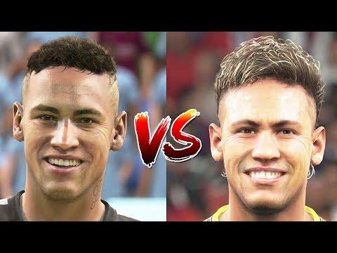 FIFA 18 New Face Updates vs PES 18 (November Update)