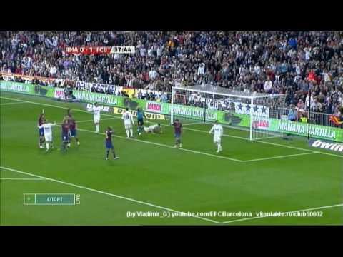 Real Madrid – Barcelona (0-2) 10.04.2010 highlights, tricks