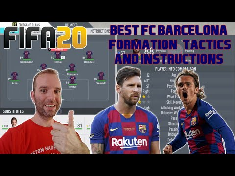 BEST FC BARCELONA Formation, Tactics and Instructions – FIFA 20 TUTORIAL