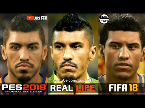 FIFA 18 vs PES 2018 | FACES COMPARISON | FC BARCELONA | LuisFCH