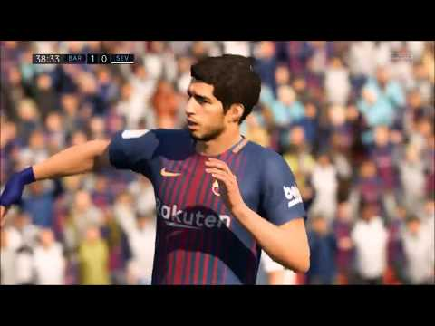 FIFA 18 Tactics – Barcelona's Best 4-2-4 Formation. (With Gameplay)