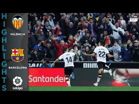 Valencia 2-0 Barcelona – GOALS & HIGHLIGHTS – 1-25-2020