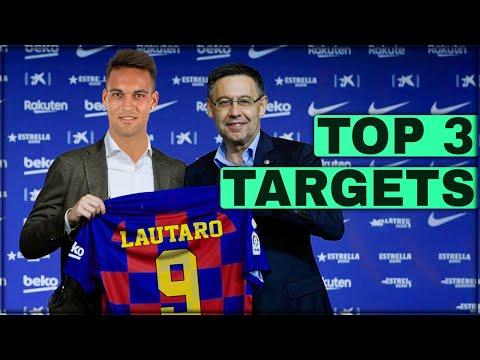 TOP 3 FC Barcelona Transfer Targets January 2020! January Transfer News ft Lautaro Martinez