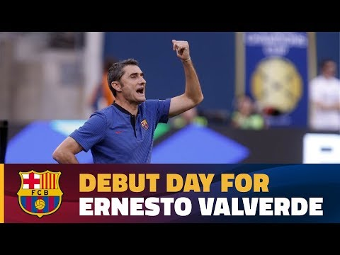 Valverde's first game as FC Barcelona's coach