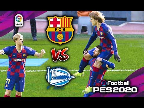 🔥 BARCELONA vs ALAVES | LA LIGA ● 12/21/2019 | PES 2020 Realistic