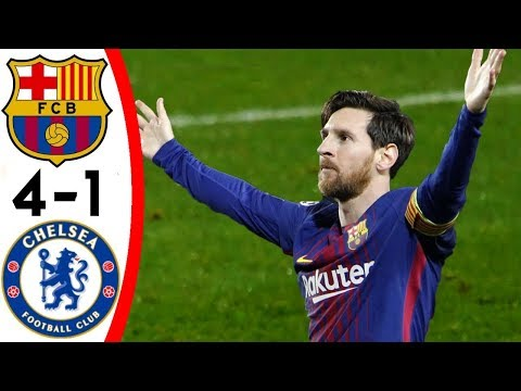 FC Barcelona vs Chelsea 4-1 Goals & Highlights w  Eng Commentary