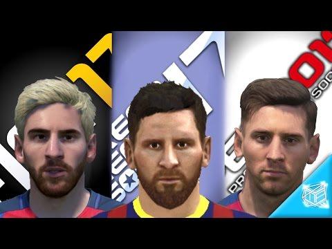 DLS17 vs FIFA17 vs PES2017: BARCELONA FACES COMPARISON