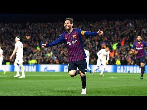 Lionel Messi (FC Barcelona) 2 GOALS vs. Manchester United |  2018/19 Champions League Quarter-final