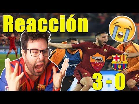 VIDEOREACCIÓN – ROMA 3 BARÇA 0
