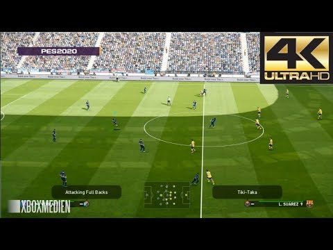 PES 2020 4K 60 FPS Amazing Realism LIVE Broadcast Camera PSG vs Barcelona