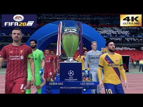 FIFA 20 (PC) Liverpool vs Barcelona | UEFA CHAMPIONS LEAGUE FINAL GAMEPLAY | 4K 60FPS