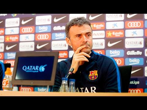 Rueda de prensa de Luis Enrique previa al Deportivo Alavés – FC Barcelona