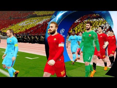 Roma vs Barcelona | Champions League 2018 Gameplay