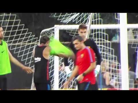 Neymar fights with Barcelona team mate Nelson Semedo in shocking training ground