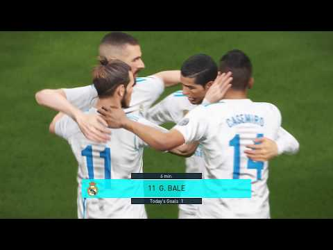 Real Madrid vs Barcelona FC 3-1 [Full Match Highlights]Score By Ronaldo 11-04-2018 [PES 2018]