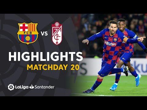 Highlights FC Barcelona vs Granada CF (1-0)