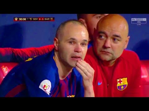 Andres Iniesta Emotional Farewell / Iniesta Crying After Last Match With Barcelona