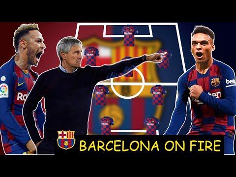 AMAZING!!😮 FC BARCELONA POTENTIAL LINE-UP WITH QUIQUE SETIEN HERNANDES 2020/21 FT NEYMAR, MARTINEZ