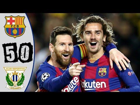Barcelona vs Leganés 5-0 Highlights & All Goals – Resumen y Goles – 2020