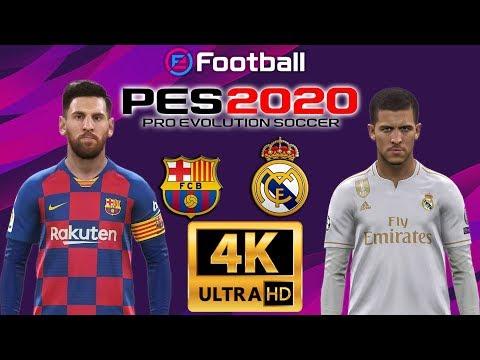eFootball PES 2020 | FC BARCELONA VS REAL MARID EL CLASICO  | SPANISH LALIGA SANTANDER GAMEPLAY | 4K
