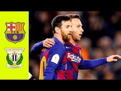 Barcelona vs Leganes 5-0 Highlights All Goals (Resumen)