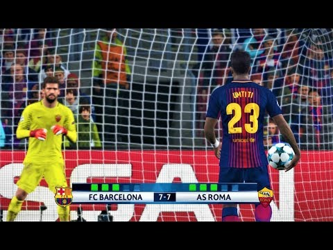 PES 2018 | Barcelona vs Roma | Penalty Shootout | UEFA Champions League | Gameplay PC