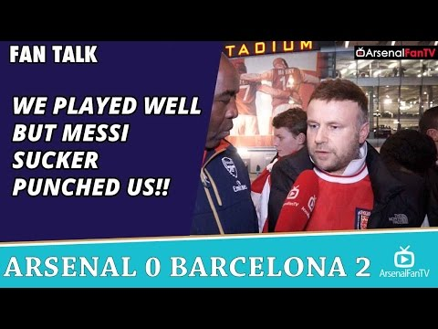 We Played Well But Messi Sucker Punched Us!!   | Arsenal 0 Barcelona 2