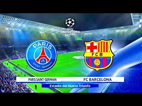 PARIS SAINT GERMAIN X FC BARCELONA ( 4K – ULTRA HD ) UEFA CHAMPIONS LEAGUE – PES 17